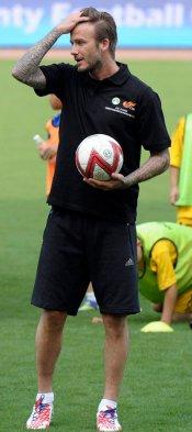 David Beckham, su look más deportivo