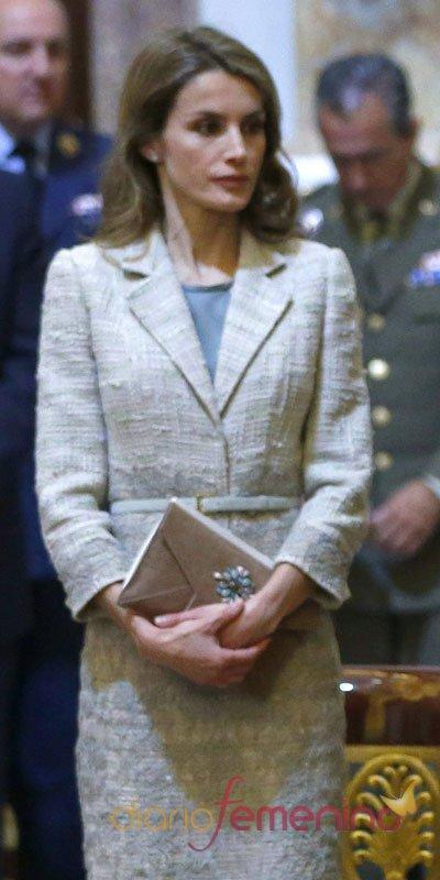 El look de Letizia en el homenaje a don Juan de Borbón