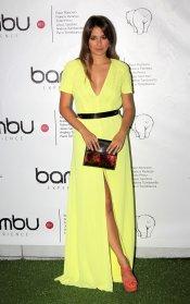 Blanca Suárez, guapísima con un vestido color verde lima