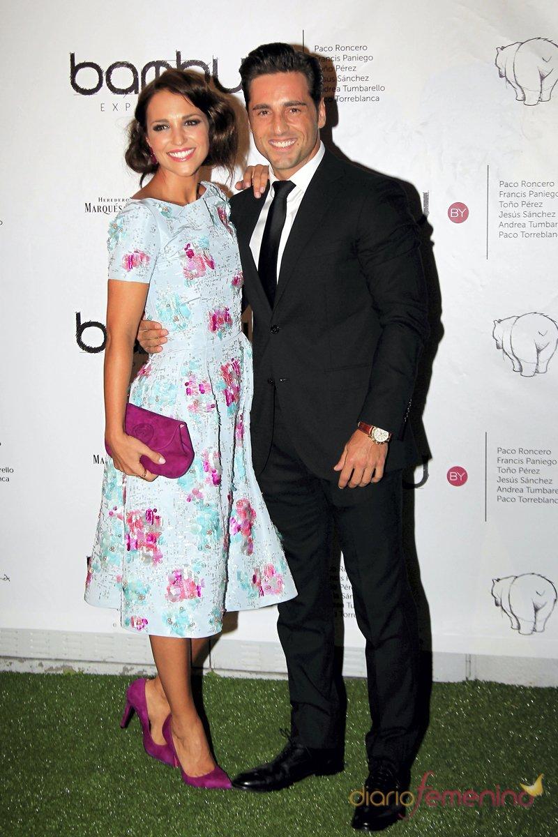 Paula Echevarría, protagonista de Galerías Vélvet, junto a su pareja David Bustamante