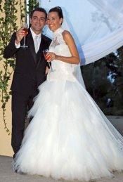 El vestido de novia de Nuria Cunillera en su boda con Xavi Hernández