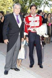 Manuel Lastra en su boda con Leticia, hija de Ramón Calderón