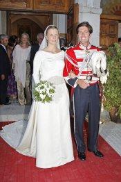 Leticia, hija de Calderón, y Manuel Lastra en el día de su boda