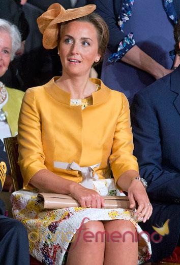 El look de la princesa Claire en la coronación de Felipe de Bélgica