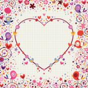 Carta de amor dentro de un corazón