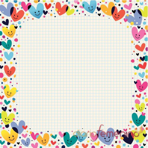 Carta de amor con corazones