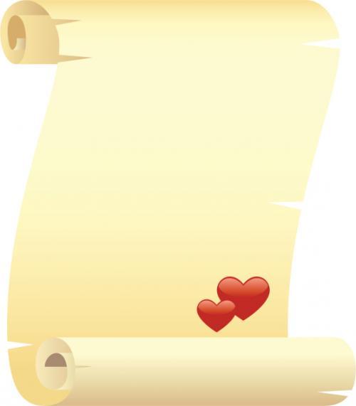 Carta de amor estilo pergamino - Cartas de amor: modelos y formatos