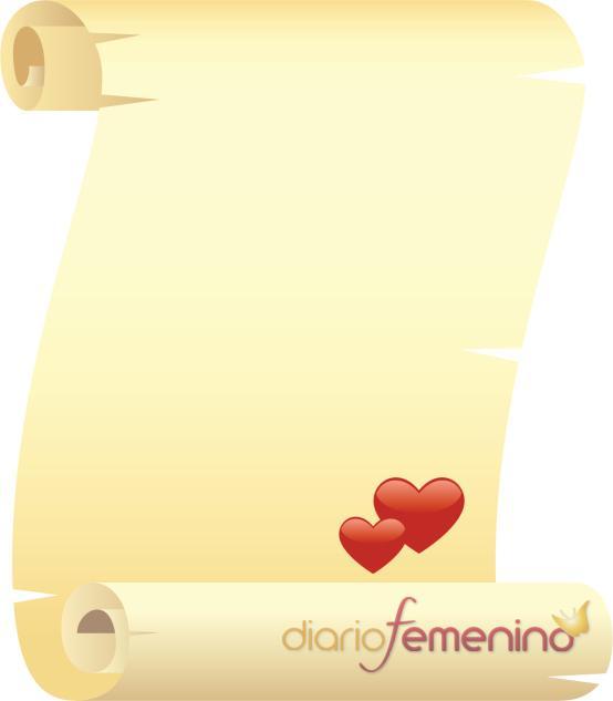 Carta de amor estilo pergamino