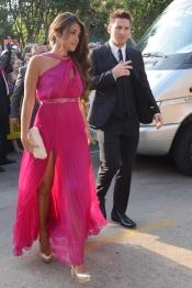 Antonella Roccuzzo y Leo Messi asistieron así de guapos a la boda de Xavi Hernández