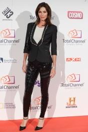 La modelo Cristina Piaget en la presentación de Total Channel en Madrid