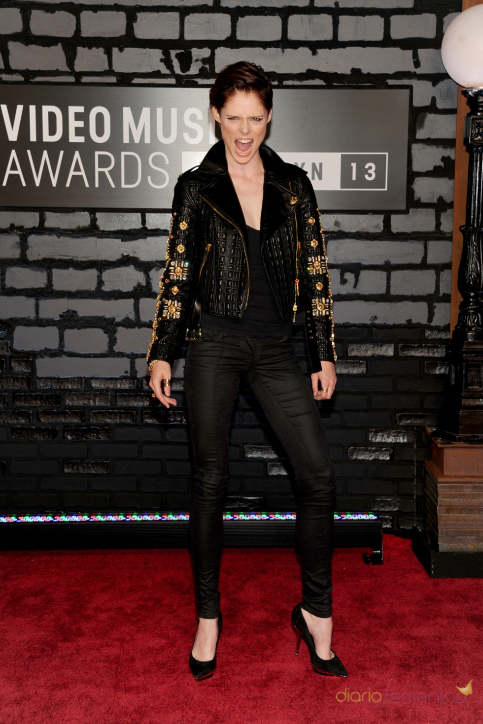 Coco Rocha en la alfombra roja de los MTV VMA 2013