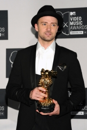 Justin Timberlake celebró su premio MTV VMA 2013