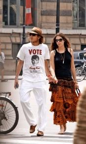 Tatiana Santo Domingo y Andrea Casiraghi paseando por París