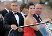 George Clooney y Sandra Bullock llegan al Festival de Venecia 2013