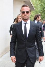 Sete Gibernau durante el funeral de su tío Álvaro Bultó