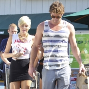 Miley Cyrus con su chico Liam Hemsworth