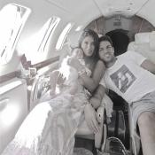 Cesc Fàbregas, su novia Daniella Semaan y su hija Lia: una familia feliz