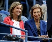 La Reina Sofía y la ministra Ana Mato, en la final del US Open 2013