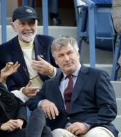 Sean Connery y Alec Baldwin, dos clásicos en la final del US Open 2013