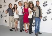 David Bisbal con el equipo al completo de La Voz 2 de Telecinco