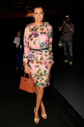 Mar Flores posa sonriente en la Madrid Fashion Week