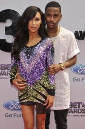 Naya Rivera con Big Sean en los BET Awards