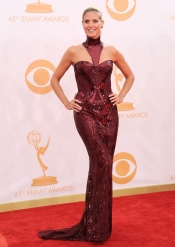 Heidi Klum en la alfombra roja de los Emmy 2013