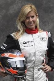 María de Villota, piloto y probadora de coches de Fórmula 1