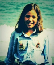 Sonia Walls de Gran Hermano 14 cuando era pequeña