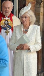 Camila Parker Bowles, en el bautizo del Príncipe Jorge de Inglaterra
