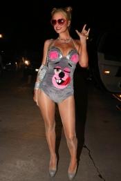 Paris Hilton se disfraza de Miley Cyrus en Halloween