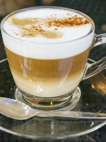 Batido de café y caramelo