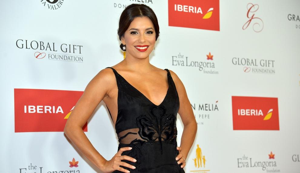 Una sexy Eva Longoria arrasa en Marbella con Global Gift 2015