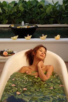 Baño relajante de te