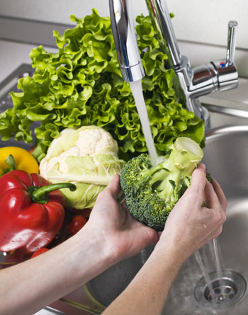 Higiene contra microbios y parásitos de los vegetales
