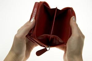 Monedero vacio en crisis