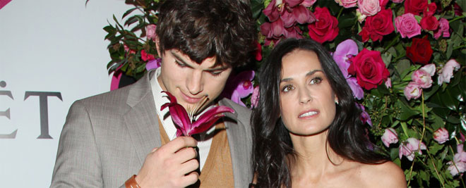 Ashton Kutcher y Demi Moore, una verdadera historia de San Valentín