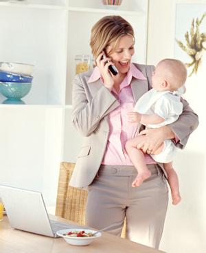 Madre y trabajadora