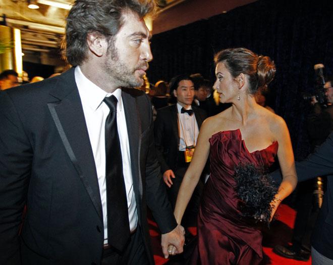 Foto de Javier Barden y Penélope Cruz juntos en los Oscars 2010