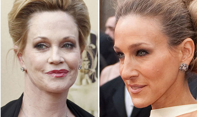 Maquillaje y arrugas de Melanie Griffith y Sarah Jessica Parker