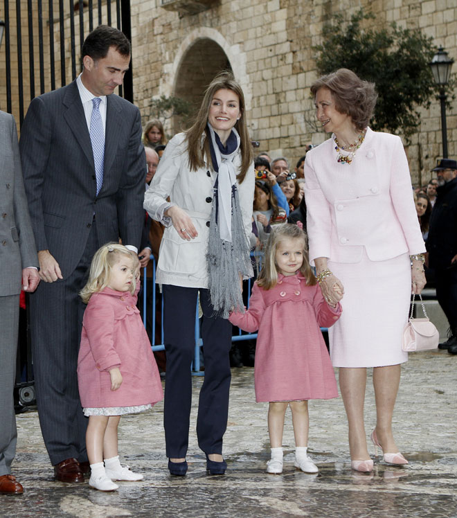La Semana Santa de la Princesa Letizia y las Infantas Leonor y Sofia