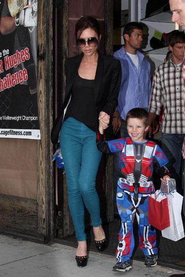 Victoria Beckham gana peso para quedar embarazada después del  Mundial 2010