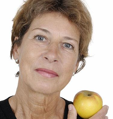 Tratamiento de la menopausia con una buena dieta