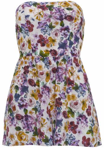 Vestido de flores de topshop