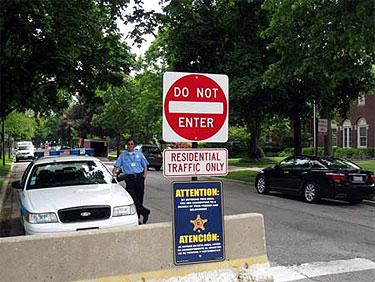 Seguridad en la casa de Obama en Chicago