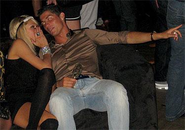 Cristiano Ronaldo y la ex amigas Paris Hilton y Kim Kardashian