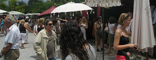 Hippies y artistas en Las Dalias