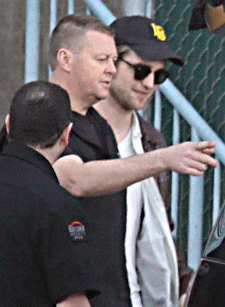 Pattinson en el rodaje de eclipse