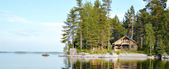 Cabaña rural en finlandia