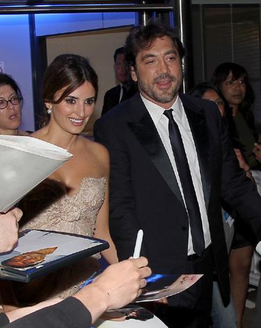 Declaración de amor de Javier Bardem a Penélope Cruz en Cannes 2010